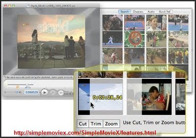 SimpleMovieX editing mode