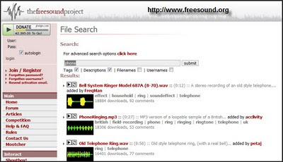 FreeSounds Phone Page