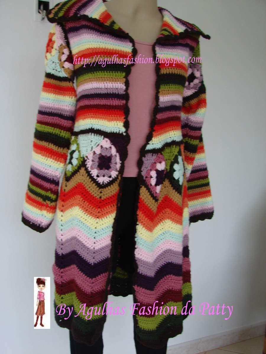 Crochet الكروشية و جاكيت كروشية طويل مع البترون.التلوين بالكروشية.جاكتات كروشية للصبا casacoarcoiris.jpg