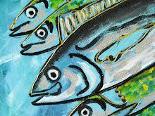 acrylique poissons
