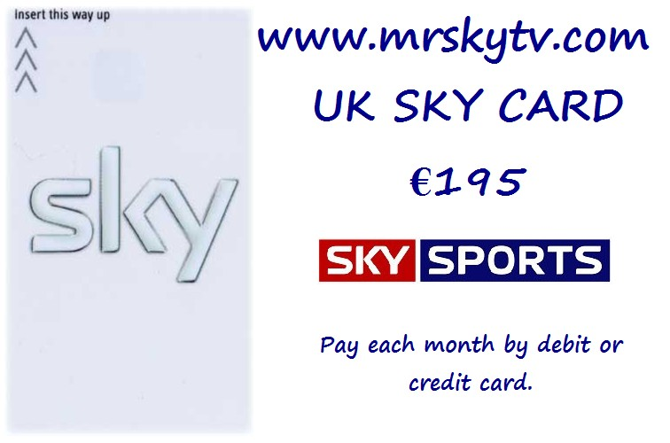 SKY TV VIEWING CARDS SPAIN