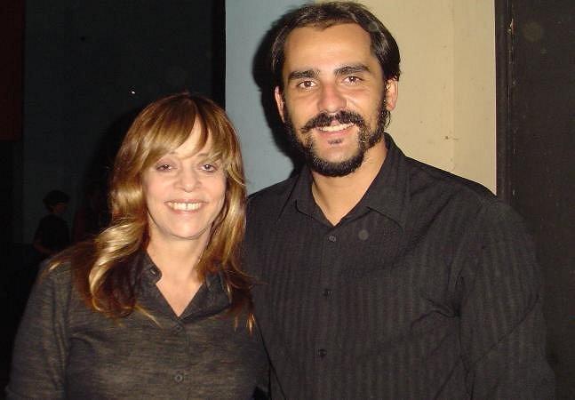 Gloria Perez e Vaz após a peça  CHE GUEVARA