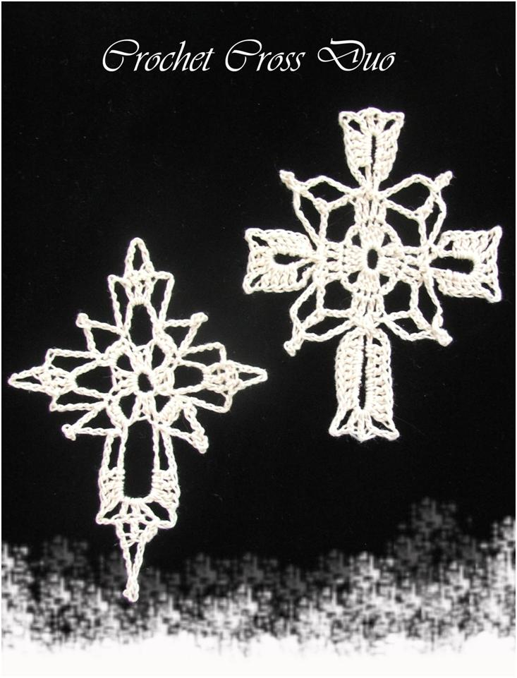 Susans Hippie Crochet Thread Crochet Crosses Christmas Ornaments