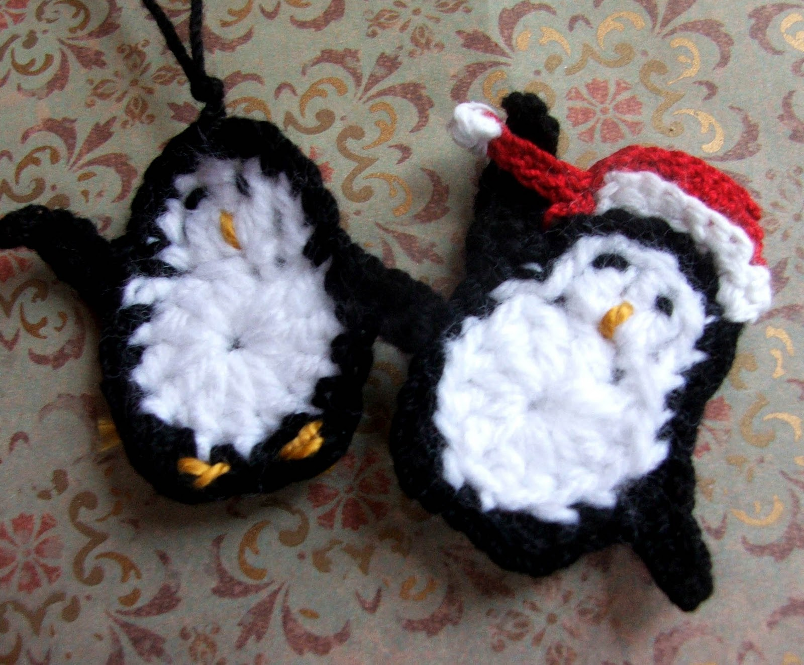 Susans Hippie Crochet Penguin And Santa Hat Now On Etsy