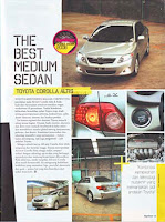 The Best Medium Sedan : Toyota Corolla Altis