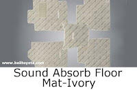 aksesoris camry: Sound Absorb Floor Mat-Ivory