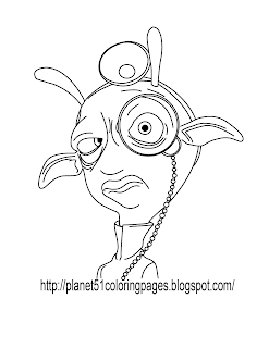 Planet 51 coloring book