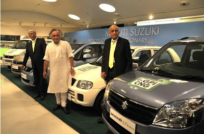 Maruti introduced its five new CNG models in India