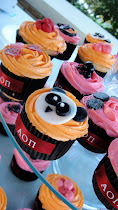 Close up on AOII Cupcakes