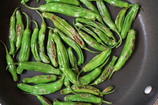 sautee shisito peppers
