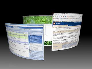 Ubuntu desktop with the Compiz circle effect