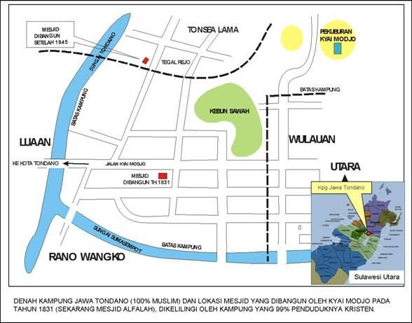 Denah Kampung Jawa Tondano (JATON)