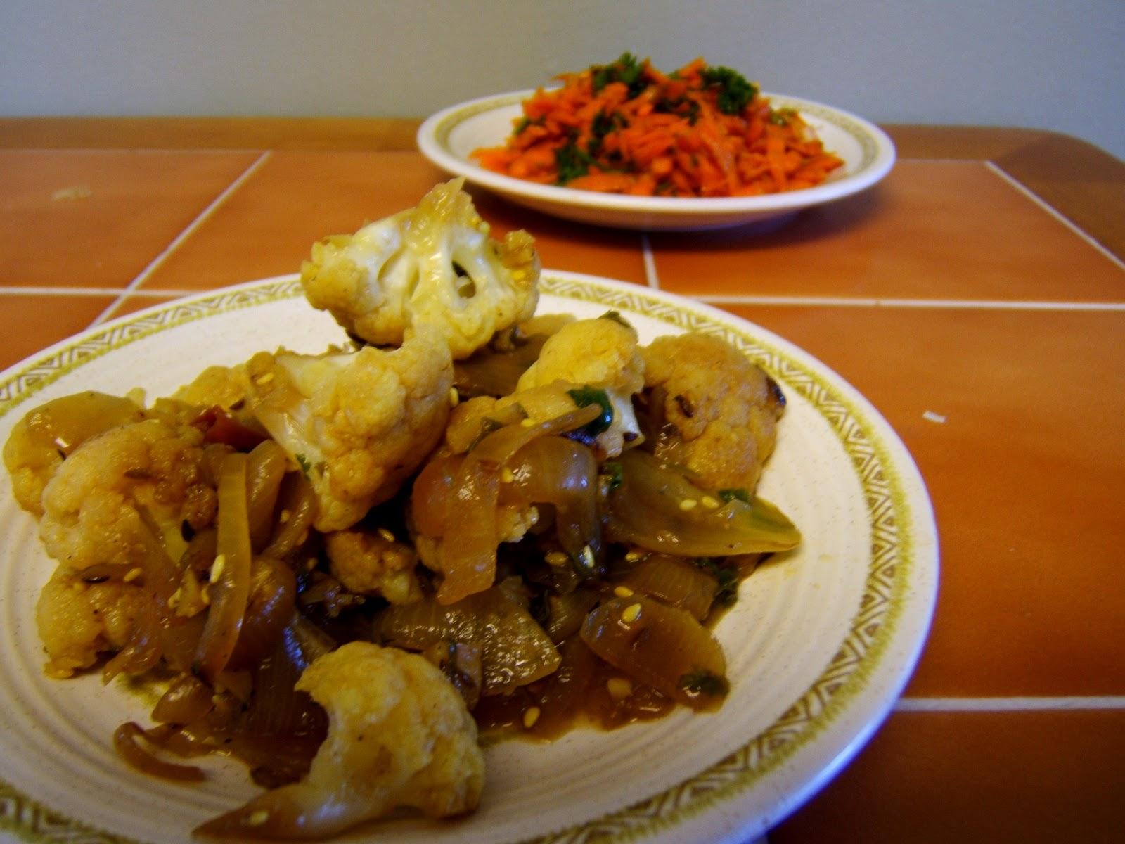 Spiced Cauliflower with Sesame Seeds