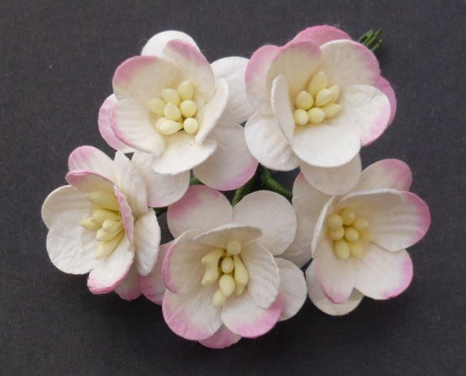 Цветы яблоня из бумаги