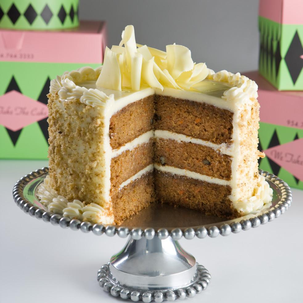The Thrillbilly Gourmet Carrot Cake With Caramel Glaze And Cream