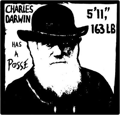 Charles Darwin has a posse.  5-11 163 lbs