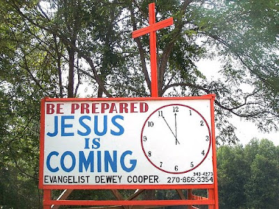 sign that says be prepared, Jesus is coming