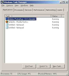 task manager, lihat proses
