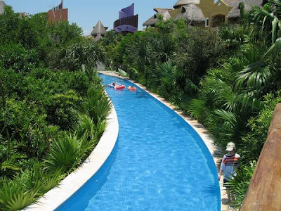 Lazy River Pool At Mexico All Inclusive Near Cancun