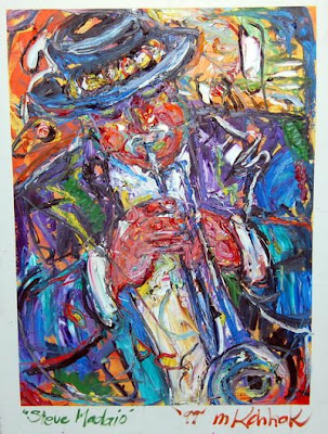 Semi Abstract Painting Of Trumpet Player