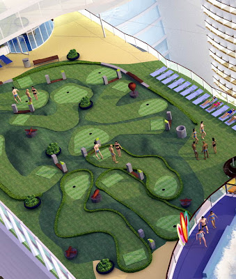 Allure of the Seas Mini Golf