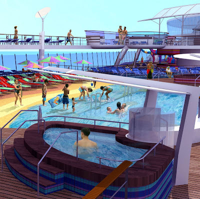 Beach Swimming Pool On Oasis Of The Seas