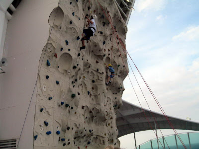 Climbing Wall On Voyager of the Seas