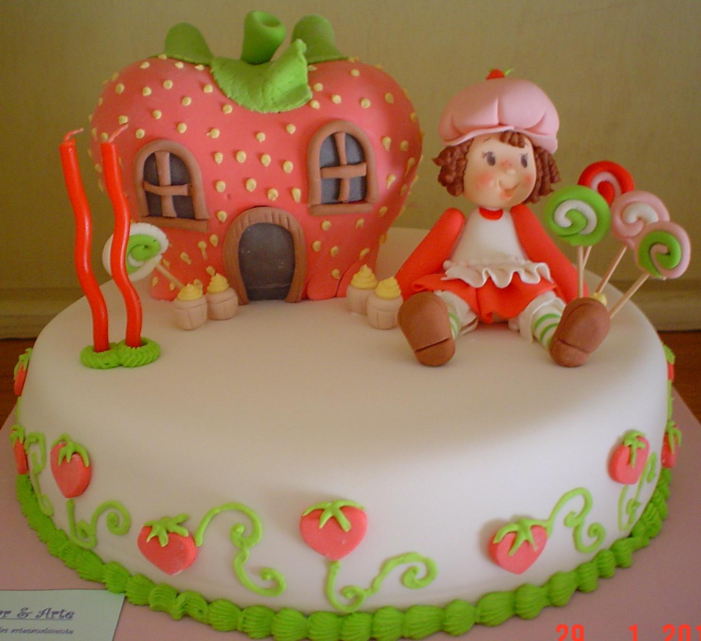 Tortas de cumpleaños frutillitas - Imagui