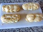 coji de eclere cu crema de vanilie preparare