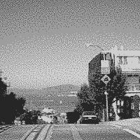 ImageMagickで4色グレースケールに減色した画像