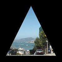pycairoで三角形に切り取った画像