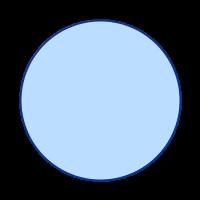 SVGRendererで出力した丸の画像
