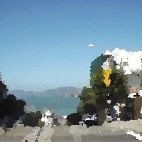 ScriptomとImageMagickで油絵調に変換した画像