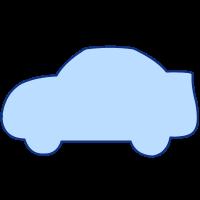 SVGRendererで描画した車の形