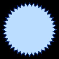 SVGRendererで描画したバッジ
