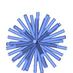 JOGLで描画したウニのような画像