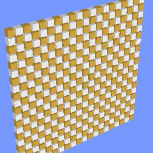 groovyとJOGLで描画した立方体の市松模様