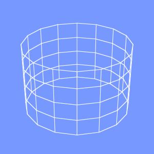 groovyとJOGLで描画したアンチエイリアスをかけたワイヤーフレームの画像