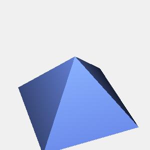 groovyとJOGLで描画したピラミッド