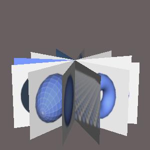 groovyとJOGLで放射状に複数の画像を配置した画像