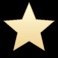 GfxBuilderで描画したグラデーションのかかった星