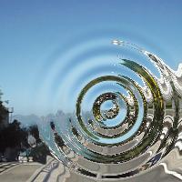 ProcessingとJava Image Filtersで波紋加工した画像