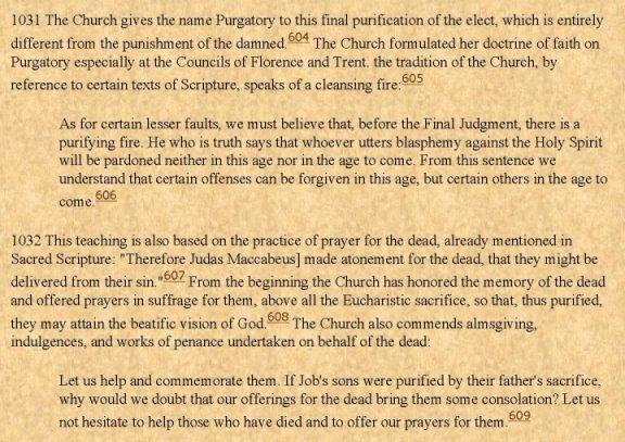 Vatican Catholic Cathecism-Purgatory 2-3