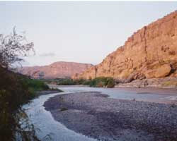The lower canyons of the Rio Grande River