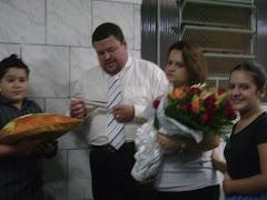 Homenagem ao Pr. Marcelo e Pra. Liliane por  01 Ano de Ministério