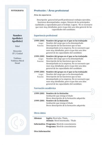 Los Curriculums Pueden Ser  Formato De Resume