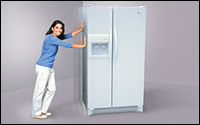 1 renovation move a refrigerator by yourself. Black Bedroom Furniture Sets. Home Design Ideas