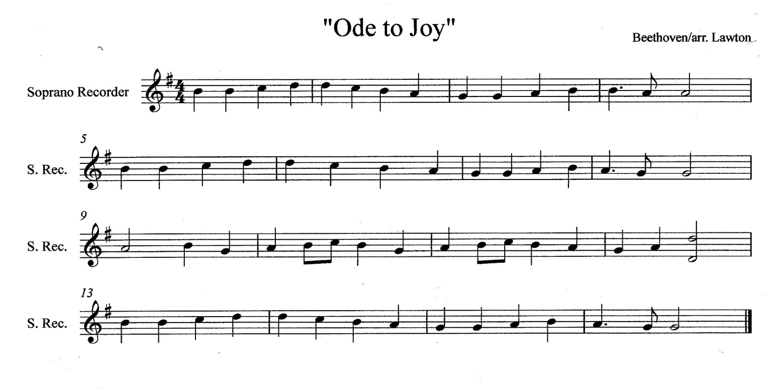 Third street music recorder ensemble deconstructing quot ode to joy quot
