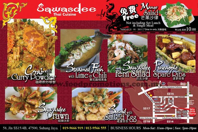 Food Street Sawasdee Thai Cuisine Meal Promotion