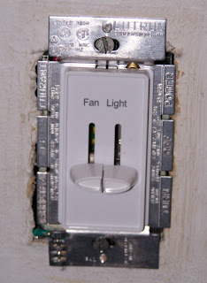 the fan/light switch